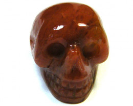 JASPER SKULL SKELETON CARVING   74.20CTS   AG2066