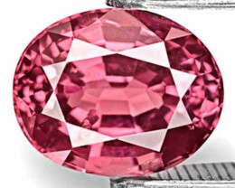 Sri Lanka Spinel, 2.56 Carats, Bright Bubblegum Pink Oval