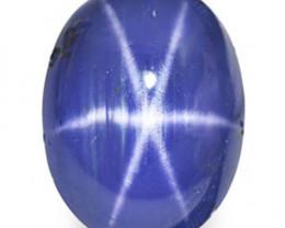 Burma Blue Star Sapphire, 10.73 Carats, Intense Cornflower Blue Oval