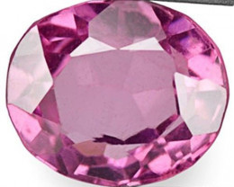 Burma Spinel, 0.71 Carats, Vivid Pink Oval