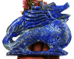 Genuine 1863.00 Cts Blue Lapis Lazuli Dragon