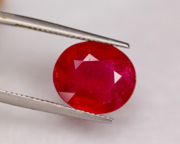 10.08ct Blood Red Color Ruby Oval Cut Lot V7389