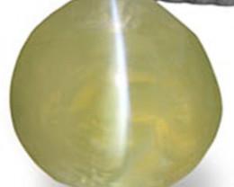 Madagascar Chrysoberyl Cat's Eye, 1.71 Carats, Neon Yellowish Green Round