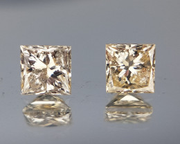 Diamond Pairs , Princess Cut Diamonds Pair , 0.37 cts