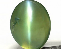 India Alexandrite Cat's Eye, 0.47 Carats, Intense Green to Orange Oval