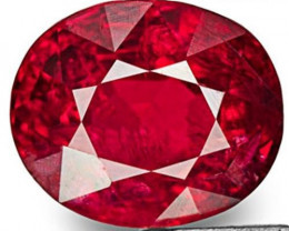 Burma Spinel, 0.79 Carats, Fiery Pinkish Red Oval