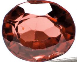 Burma Spinel, 0.79 Carats, Dark Orangish Red Oval