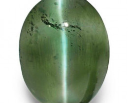 IGI Certified India Alexandrite Cat's Eye, 1.18 Carats, Oval