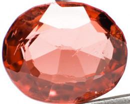 Burma Spinel, 0.69 Carats, Orangish Red Oval