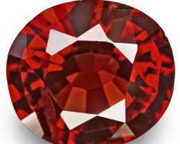 Burma Spinel, 0.88 Carats, Red Oval
