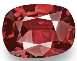 Burma Spinel, 0.85 Carats, Red Cushion