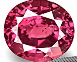 Sri Lanka Spinel, 4.57 Carats, Fiery Pink Oval