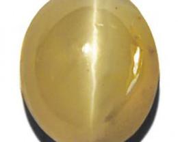 Madagascar Chrysoberyl Cat's Eye, 1.68 Carats, Light Yellow Oval