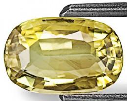 Sri Lanka Chrysoberyl, 1.28 Carats, Vivid Yellow Oval