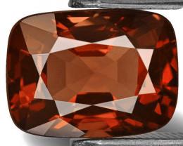 Burma Spinel, 3.01 Carats, Dark Orange Cushion