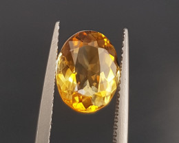 Natural Citrine Faceted Gems.