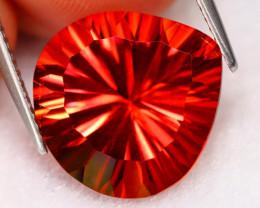Orange Topaz 11.21Ct Natural Vivid Orange Color Millennium Cut Orange Topaz