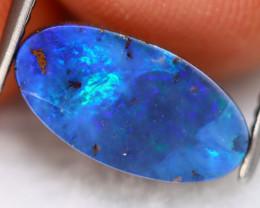 Boulder Opal 2.16Ct Natural Australian Blue Flash Boulder Opal A1211