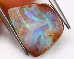Boulder Opal 4.55Ct Natural Australian Rainbow Flash Boulder Opal A1224