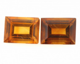 3 CTS -CITRINE   FACETED PAIR   LG-231