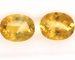 4.4 CTS - CITRINE  FACETED PAIR    LG-262