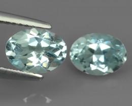 3.20 Cts - Sparkling Luster - Oval Gem - Natural Fine Blue Aquamarine !!