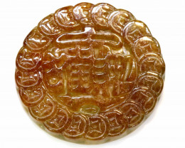 164.40 CTS- NATURAL JADE BURMA CARVING   LG-325