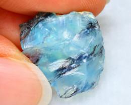 Dendrite Rough 11.49Ct Natural Peruvian Paraiba Color Opal  E1602/R2