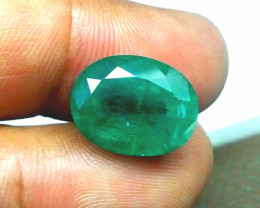Certified 7.58cts  Colombian Emerald , 100% Natural Gemstone