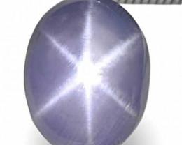 Sri Lanka Blue Star Sapphire, 4.17 Carats, Violetish Blue Oval