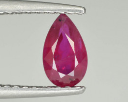 0.75 cts Natural Red Color Ruby - Mozambique