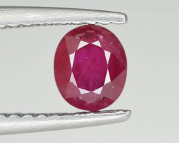 0.80 cts Natural Red Color Ruby - Mozambique