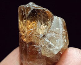 Amazing Natural color Damage free Topaz Double termination crystal 70Cts-P