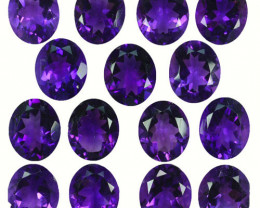 62.84Ct Natural Purple Amethyst Bolivia 12 X 10mm Parcel