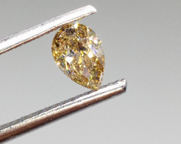 0.49ct  Fancy Light Brown Green Diamond , 100% Natural Untreated