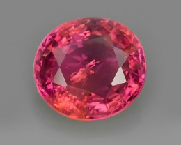3.55 CTS SPARKLING PINK TOURMALINE OVAL NATURAL TOP LUSTRE MOZAMBIQE!!!