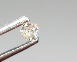 0.115ct White  Diamond , 100% Natural Untreated