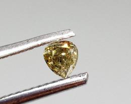 0.22ct  Fancy grayish Green Diamond , 100% Natural Untreated