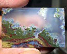 74.40 CT THE BEST MOUNTAIN VIEW PICTURE MOSS AGATE FROM INDONESIA