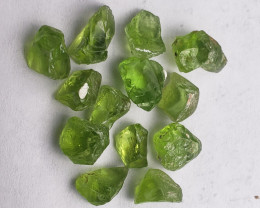 Peridot Rough 35.20 carat 13 pcs FL & VVS