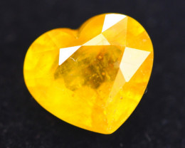 3.45Ct Yellow Sapphire Heart Cut Lot B1844