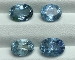 5.75 Carats Natural Blue Color  Aquamarine Gemstones Parcel