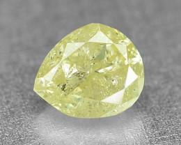 0.15 Cts Untreated Natural Fancy Intense Yellow Color Loose Diamond