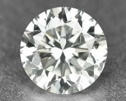 0.32 Cts Untreated Natural Fancy White Color Loose Diamond