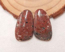 23cts ocean jasper cabochon pair,healing stone F784
