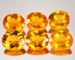 ~SET~ 26.46 Cts Natural Mexican Orange Fire Opal 13x11mm Oval 6Pcs