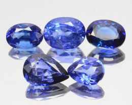 5.30 Cts Natural Beautiful Blue Sapphire Oval & Pear 5Pcs Ceylon Sri Lanka