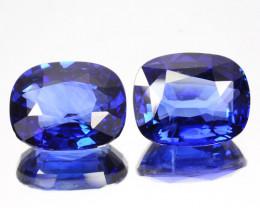 ~PAIR~ 7.46 Cts Natural Beautiful Blue Sapphire Cushion Cut Sri Lanka