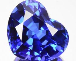 15.77 Cts Natural Blue Tanzanite AAA+ Lovely Heart Cut Tanzania