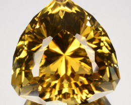 ~CUSTOM CUT~ 29.93 Cts Natural Scapolite Mint Yellow Trillion Cut Tanzania